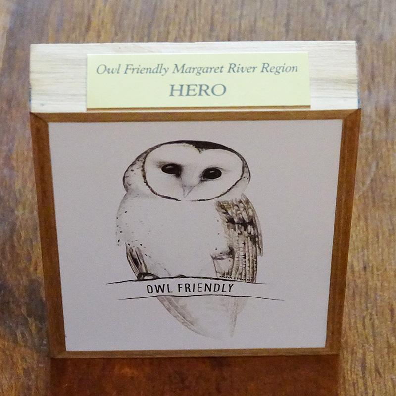 owl friendly hero plaque